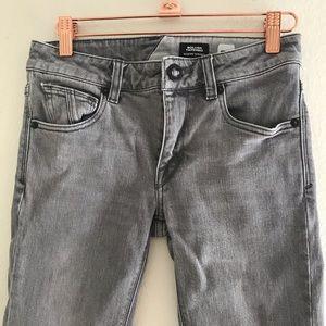 Volcom Gray Skinny Jeans - Solver Tapered Size 26